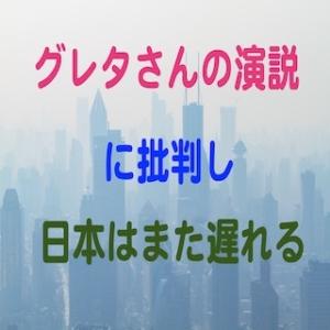 環境問題の1つの地球温暖化の対策であるCO2削減に関するグレタさんの演説の説明